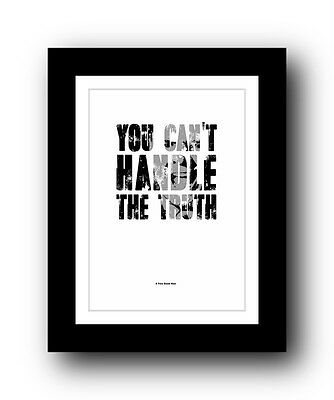 A Few Good Men ❤ Typography dvd movie quote poster art limited edition print #2