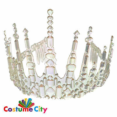 Adults Womens Ice Fairy Icicle Crown Tiara Fancy Dress Costume Accessory