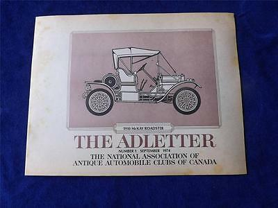National Association Of Antique Automobile Clubs Canada Adletter No. 1 1974