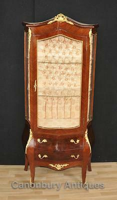 French Empire Glass Fronted Display Cabinet Bijouterie