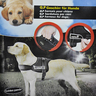 Panda Soft Padded Large Dog Pet Adjustable Safety Harness Chest Size Free Post