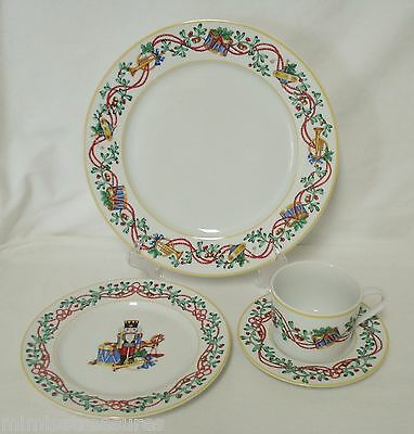 4pc Block Spal Whimsy Christmas Place Setting Dinner & Salad Plate Cup Saucer