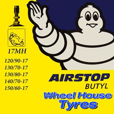 Michelin Motorcycle Inner Tube 17MH 120/90, 130/70, 130/80, 140/70, 150/60-17