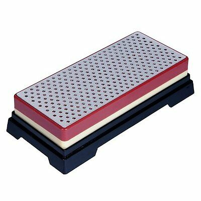 Ansen Tools Grit Sharp AS-409 6-Inch Double-Sided Extra Wide Diamond Whetstone S