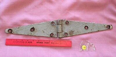 Vintage Heavy Duty Barn Gate Hinge Door Hardware Old Gray Paint Rustic Farm Find