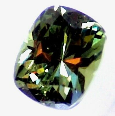 Fine Rare 1.9Ct Natural Demantoid Garnet Africa Cushion Cut For Engagement Ring