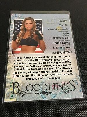 Ronda Rousey 2013 Topps UFC Bloodlines Insert Card