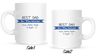 Personalised World's Best Dad MUG Daddy Fathers Day, Birthday or Christmas gift