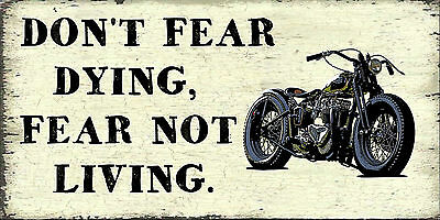 Motorcycle Enthusiast Dying  Sign,motorcycle Humour .vintage Bobgift