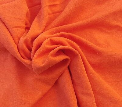 c87044c6a58 Orange Cotton Interlock Knit Fabric Fire Retardant By the Yard 61