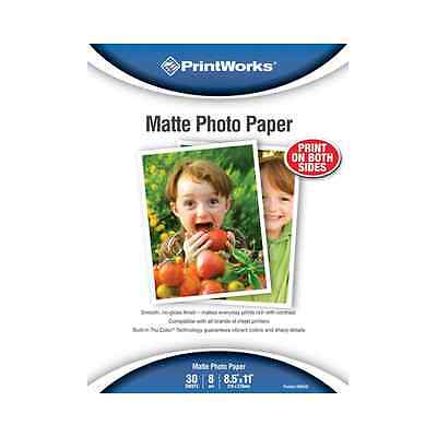 Paris Business Products Photo Paper Matte Smooth No Gloss Finish 8.5x11 30SH