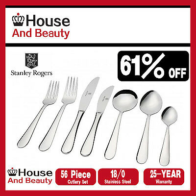 STANLEY ROGERS Albany 56 Piece Cutlery Set! RRP $299.00! 100% Genuine!