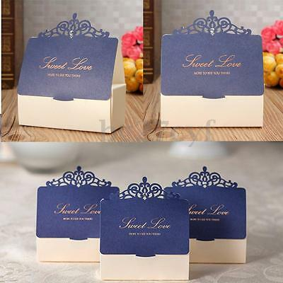 1-20x Love Crown Paper Cake Candy Sweet Box Wedding Party Table Decor Favor Gift