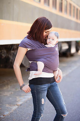 Moby wrap Baby Carrier, Organic Collection Eggplant [New& Authentic]