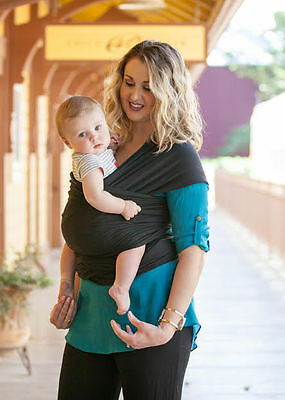 Moby Wrap Classic 100% Cotton Baby Carrier, Black [New & Authentic]
