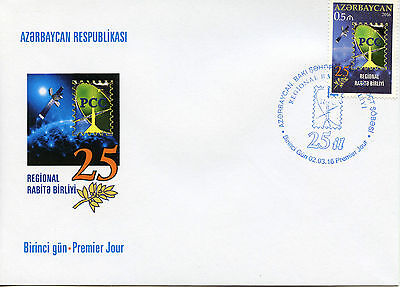 Azerbaijan 2016 FDC RCC Reg Commonwealth in Communications 1v Set Cover Stamps
