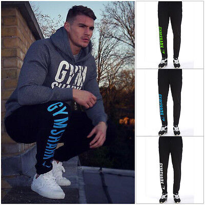 2016 Men's Training Joggers Sweat Pants Gym Sports Track Jogger Bottoms Trousers