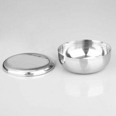 Stainless Steel Metal Men's Shaving Mug Bowl Cup with Lid For Shave Brush