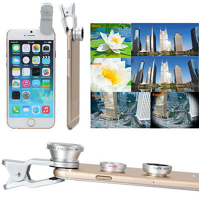 Fisheye Wide Macro Cell Mobile Phone Camera Photo Lens Clip For iPhone DC264S