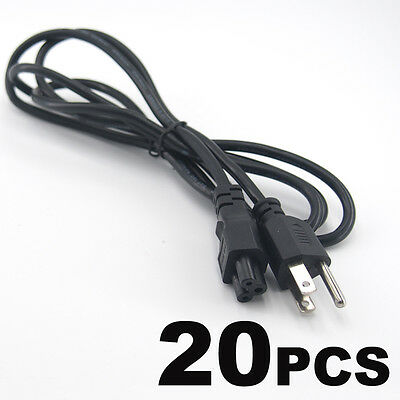 Lot of 20 PC 3 Prong Mickey Mouse AC Power Cord Cable Charge Adapter PC Laptop