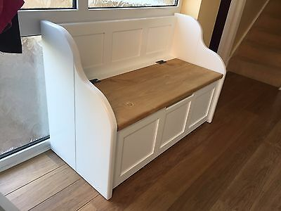 3ft Rustic Style Window Seat/Bench/Settle/Pew with Storage (MADE TO ANY SIZE)