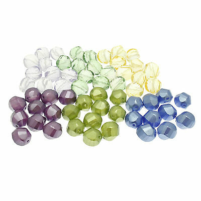 10 Czech Glass Beads, Faceted Cut Nugget size 14x13mm ideal for Jewellery Making