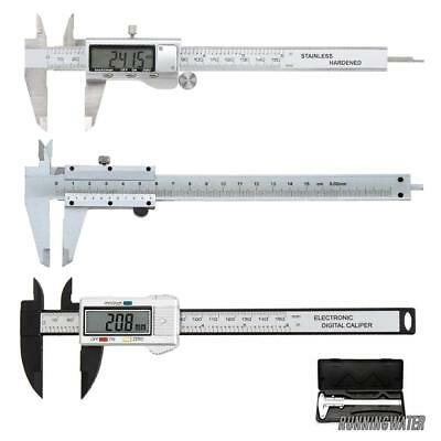 "6"" Digital Steel Vernier Caliper Electronic Micrometer LCD Measuring Gauge Tool"