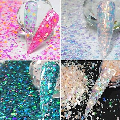 SUMMER FESTIVAL NAIL ART FACE BODY GLITTER MIXES 5g PACK OR 3ml IF STATED