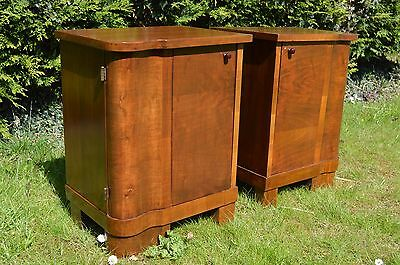 Wonderful pair of Art Deco Nightstand/ Bedside Cabinet  FREE SHIPPING