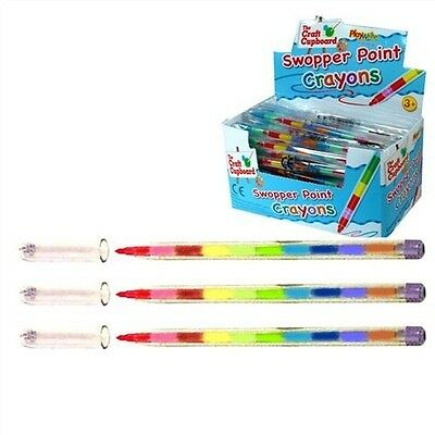 1 Stacker Crayon Swap Point Colouring Pencil Changing Colours Swapping Push Up