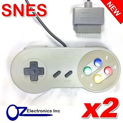 2 x Nintendo SNES Controller for SNES Brand New Free Shipping from Australia