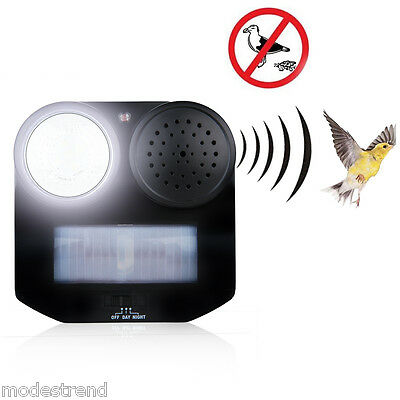 PIR Motion Activated Sound Repellent Bird Animal Repeller Controller Flashlight
