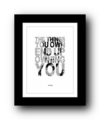 Fight Club ❤ Typography movie quote poster art limited edition print #29