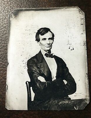 Abraham Lincoln President Civil War Military TinType C137NP