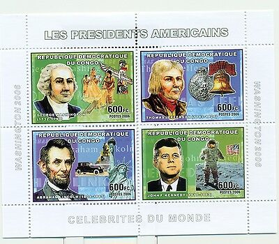 PRESIDENTS AMERICAINS - U.S.A. PRESIDENTS CONGO 2006 set perforated