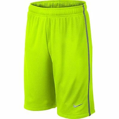 Boy's Nike Monster Mesh Shorts Large 14-16 Volt Yellow, Gray 589632 710 NWT
