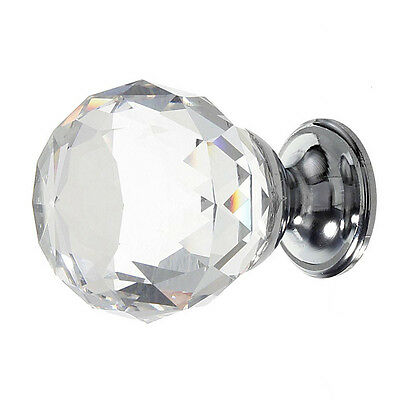 1pcs Diamond Crystal Cabinet Drawer Door Pull Handle 30mm FP6
