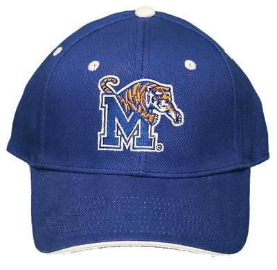 uk availability a8557 f3bc3 University of Memphis Tigers Adjustable Buckle Back Hat Embroidered Cap