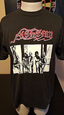 Vintage 90s 1991 Alchemy Medieval Heavy Metal Folk Band Concert Tour T-Shirt