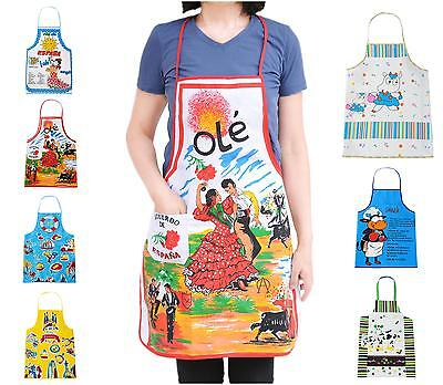 Bib Funny Pattern Canvas Aprons Craft / Women Party Kitchen Cooking
