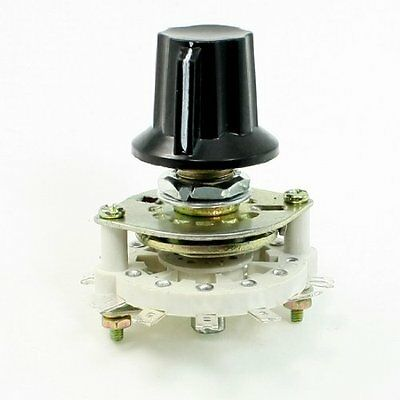 Plastic Knob 2P5T 2 Poles 5 Position Band Channel Rotary Switch, New, Free Shipp