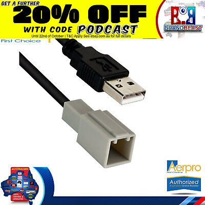 Aerpro Toyota Hilux 2015 - On Factory Usb Adaptor Retain Oem Factory Usb Conect