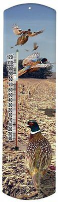 Heritage America by MORCO 375PHEAS Pheasant Outdoor or Indoor Thermometer, 20-In