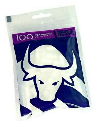 2 Bags x BULL BRAND STANDARD SIZE CHUNKY THICK 8mm CIGARETTE TOBACCO FILTER TIPS