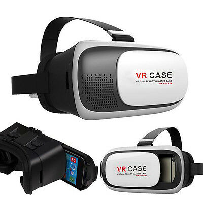 VR CASE III Headset Glasses Virtual Reality 3D Movies for iPhone 6 6S Plus White
