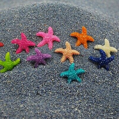 20pcs Mixed Color Resin Mini Starfish for DIY Wishing Bottle Craft Decoration