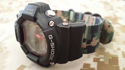 JaysAndKays® Strap Adapters Kit for Casio G-Shock GShock Black PVD 3-ring Nylon
