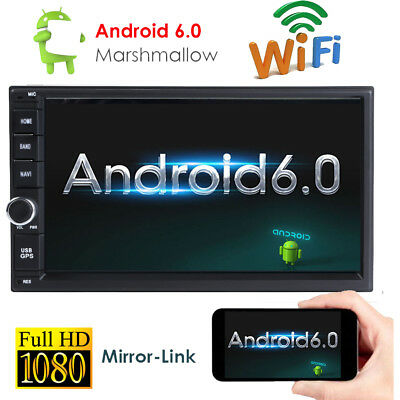 """Double 2Din 7"""" Android 6.0 System Car Stereo GPS Radio Bluetooth F DAB+ OBD2 DVR"""