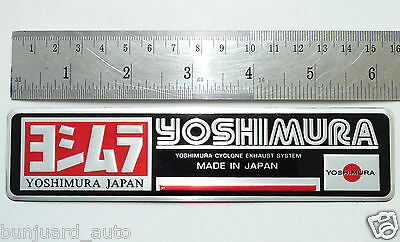 Aluminium Exhaust Silencer Plate Badge Sticker For HONDA YOSHIMURA SUZUKI YAMAHA