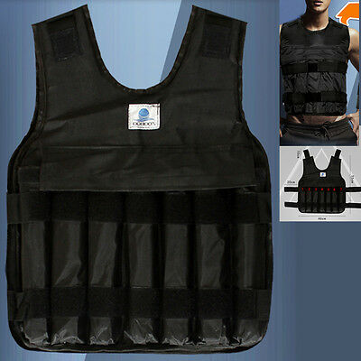 44lbs/20kg Adjustable Weighted Vest Jacket Weight For Exercise Fitness Training